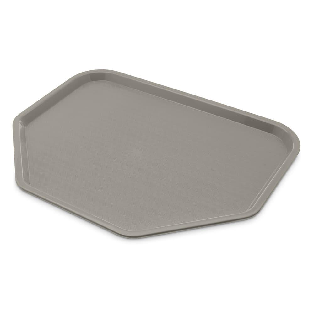 "Carlisle CT1713TR23 Plastic Cafeteria Tray - 18""L x 14""W, Gray"