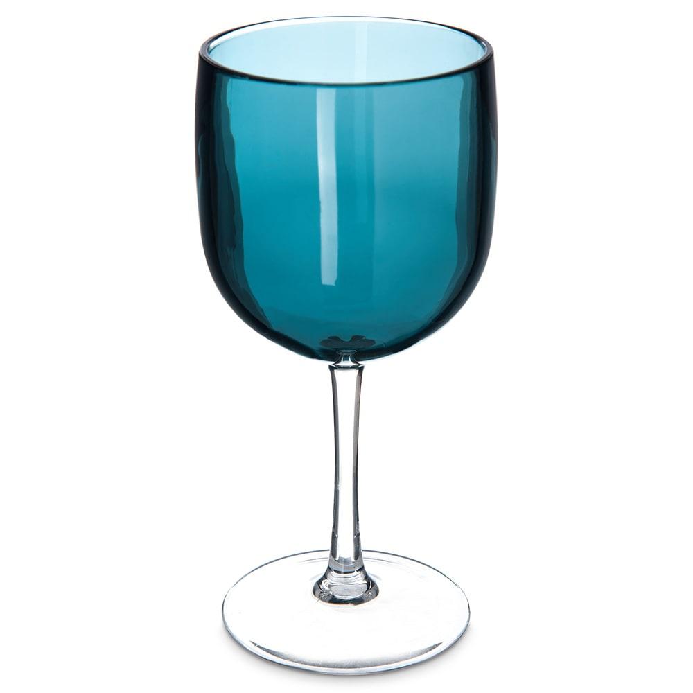 Carlisle EP7015 16.5-oz Wine Goblet - Plastic, Aqua