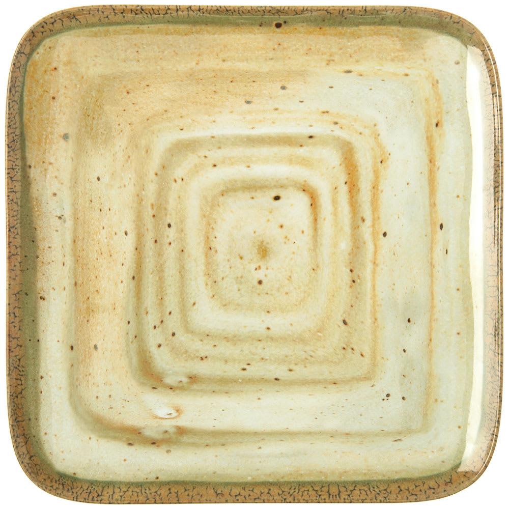 "Carlisle GA5500970 12.5"" Square Dinner Plate - Melamine, Adobe"