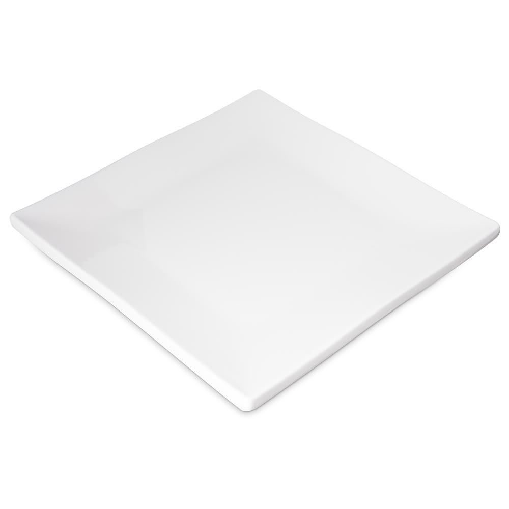 "Carlisle HAL0902 9"" Square Halcyon Plate - Melamine, Bone"