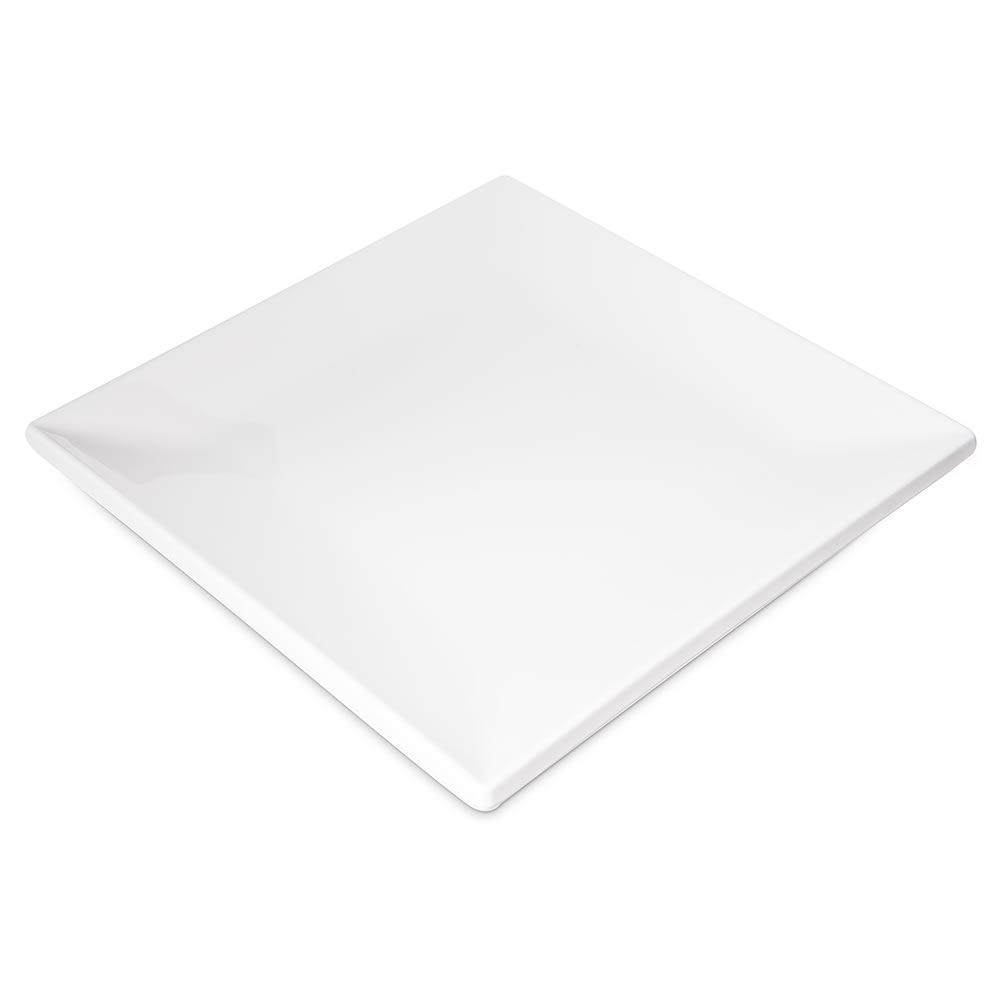 "Carlisle HAL1002 10.5"" Square Halcyon Plate - Melamine, Bone"