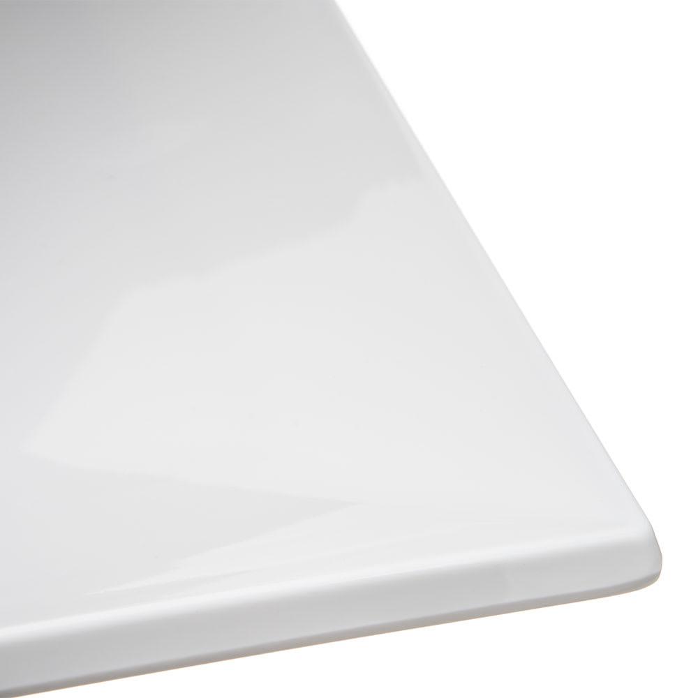 "Carlisle HAL1102 12"" Square Halcyon Plate - Melamine, Bone"