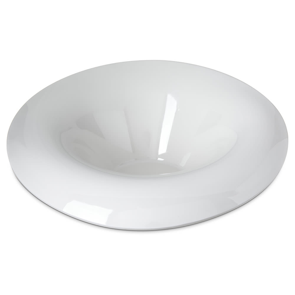 Carlisle HAL1502 10 oz Oval Halcyon Lily Bowl - Melamine, Bone