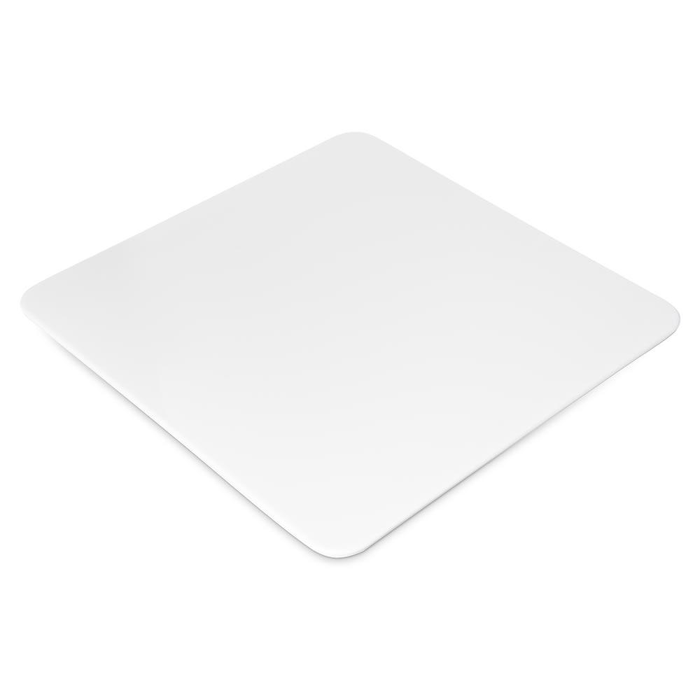 "Carlisle HAL1602 10"" Square Halcyon Serving Platter - Melamine, Bone"