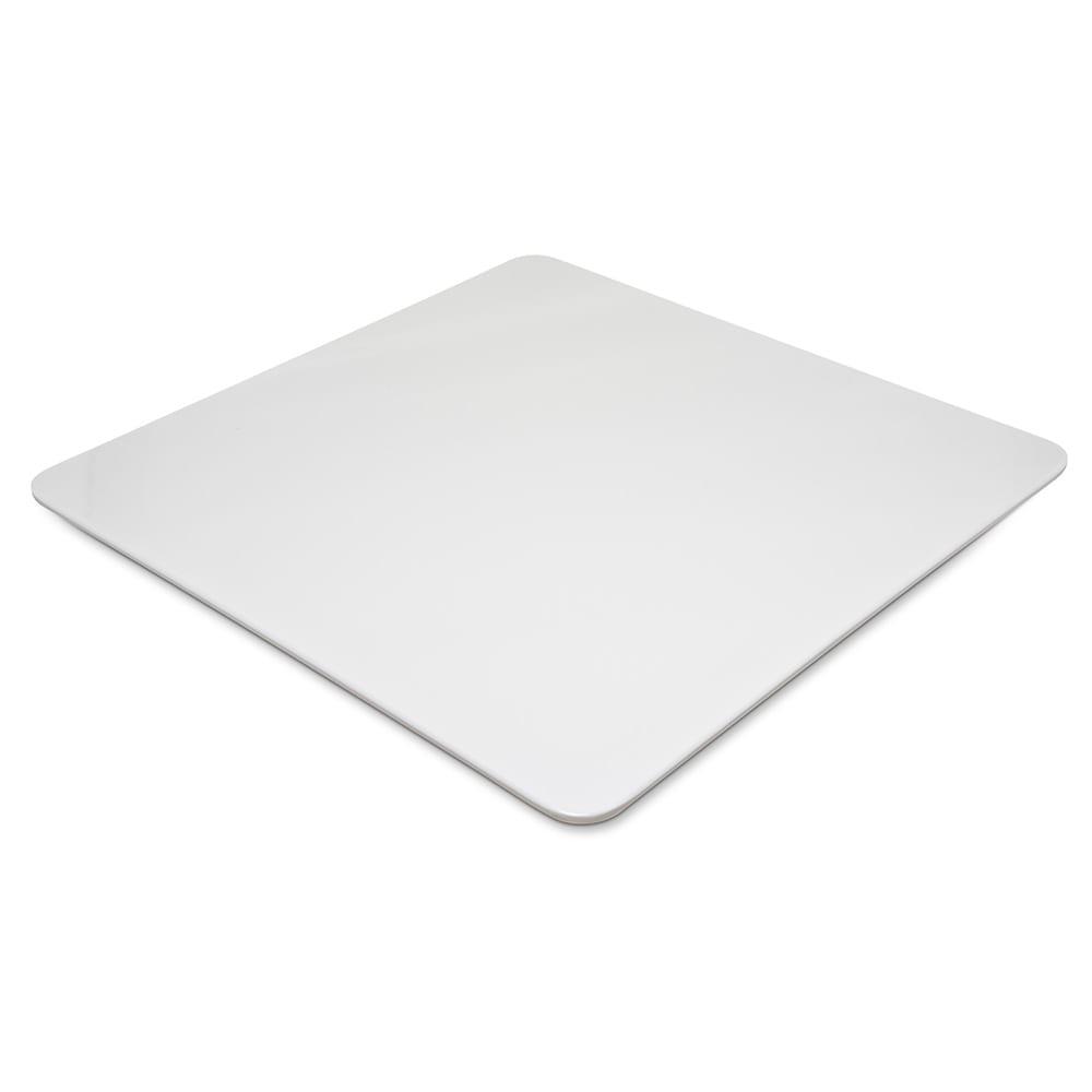 "Carlisle HAL1802 13"" Square Halcyon Serving Platter - Melamine, Bone"