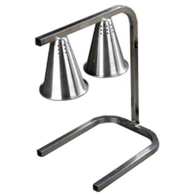 Carlisle HL7237-800 20-in Portable Heat Lamp w/ 2 Bulb C-frame, Adjustable, NSF, Aluminum