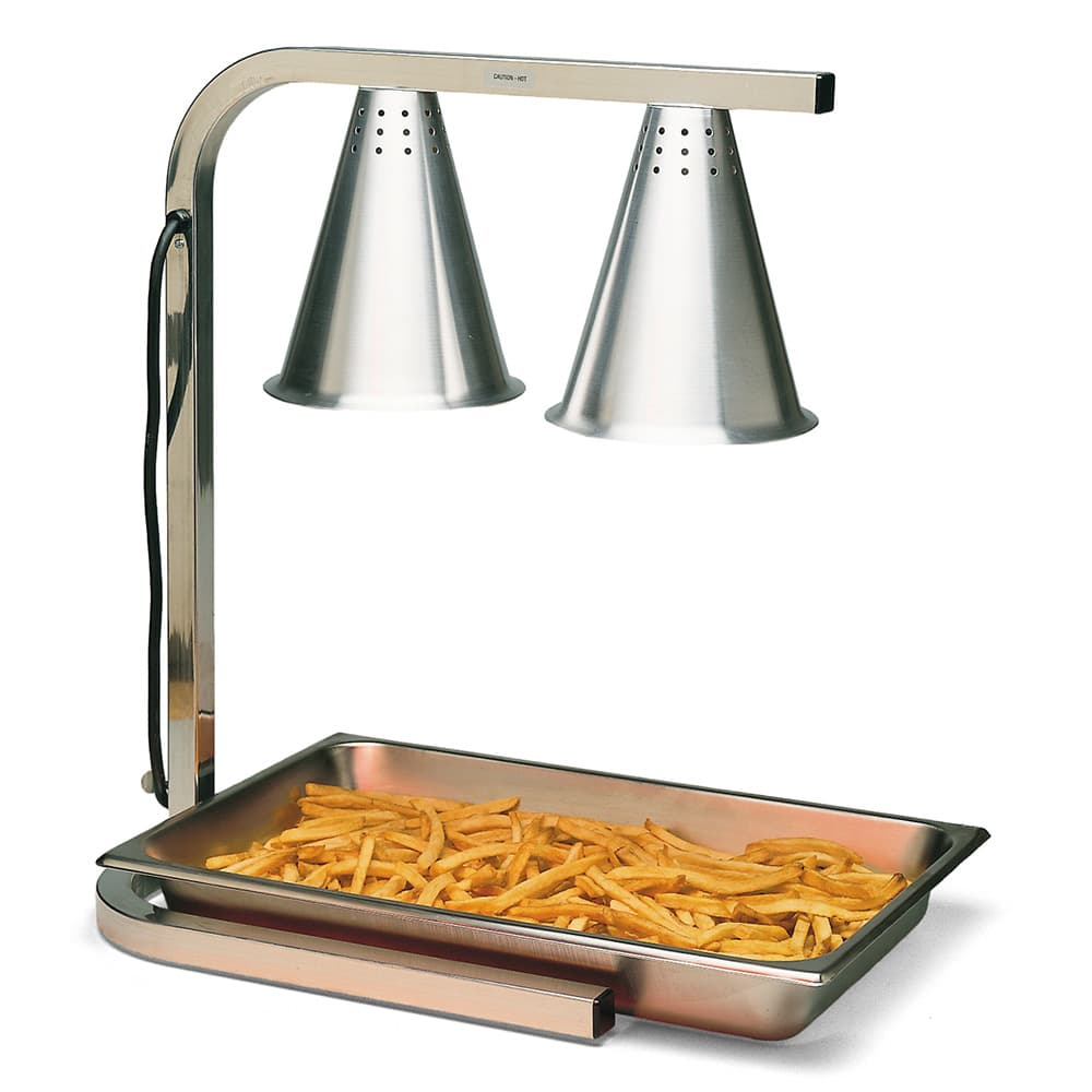 "Carlisle HL7237PS00 Countertop Free-Standing Heat Lamp - 20"" x 14"" C-Frame, 120v"