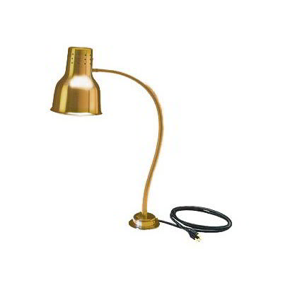 Carlisle HL8185G00 Heat Lamp - Counter-Mount, Single, Anodized Gold Finish 110 120v
