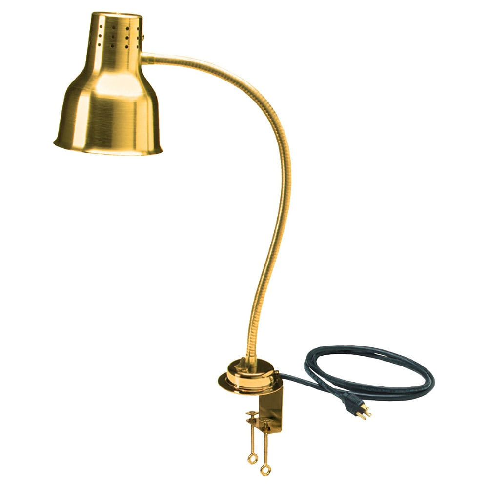 "Carlisle HL8185GC00 24"" Heat Lamp - Counter Mount, Gold-Finish Aluminum, 110 120v"
