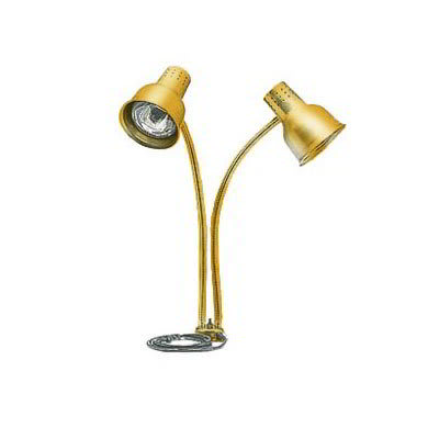 Carlisle HL8285G21 Heat Lamp - Counter-Mount, Dual Flex Arms, Anodized Gold Finish, 110-120v