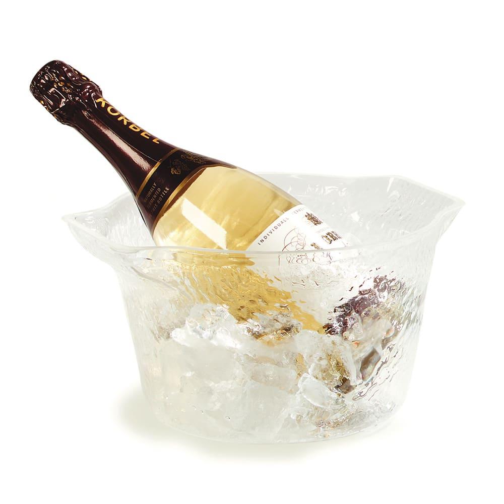 Carlisle IG101107 3.7-qt Wine/Ice Bucket - Pebbled Finish, Acrylic, Clear