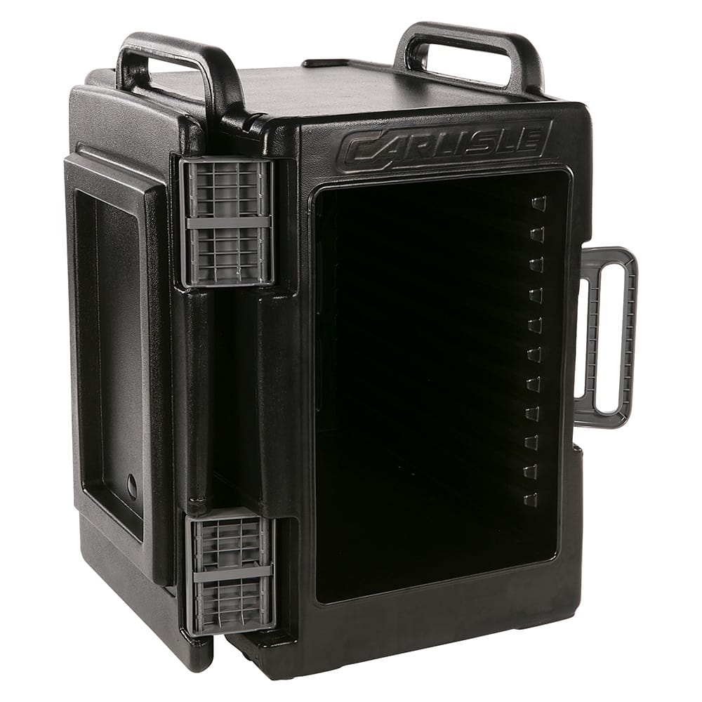 Carlisle IT40003 Cateraide™ Insulated Food Carrier - 60 qt w/ (6) Pan Capacity, Black