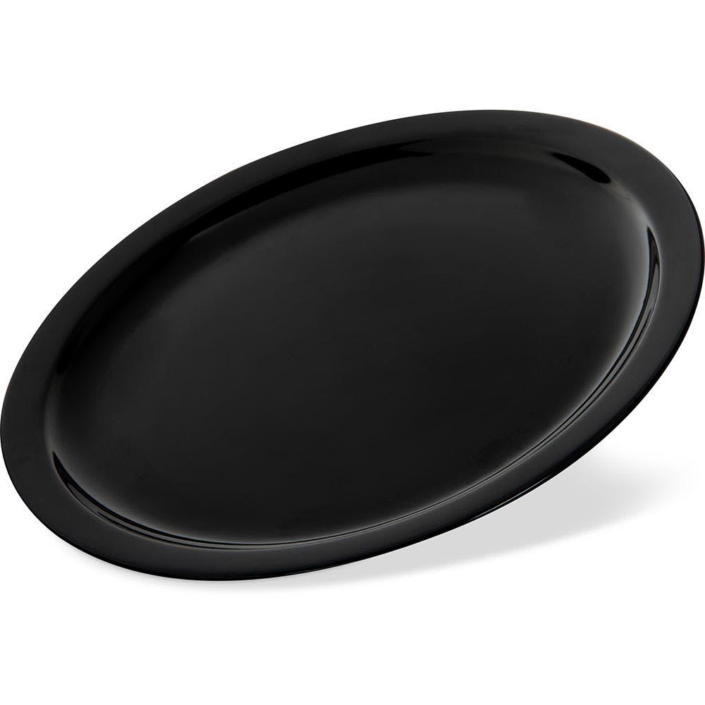 """Carlisle KL11603 10"""" Round Dinner Plate - Melamine, Black"""