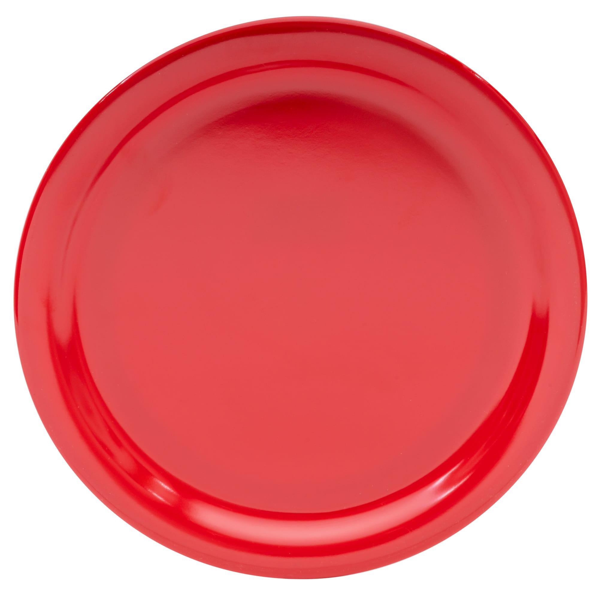 """Carlisle KL20005 9"""" Round Dinner Plate - Melamine, Red"""