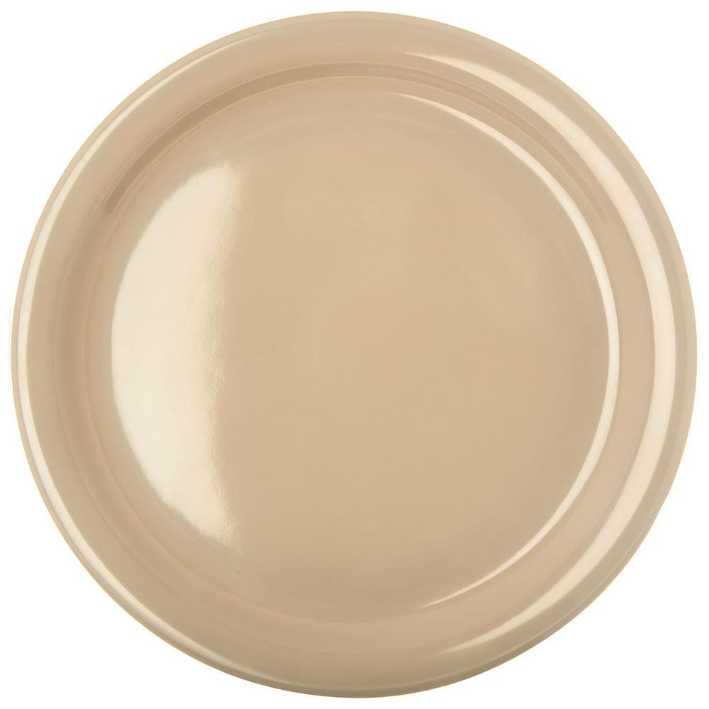 "Carlisle KL20025 9"" Round Dinner Plate - Melamine, Tan"