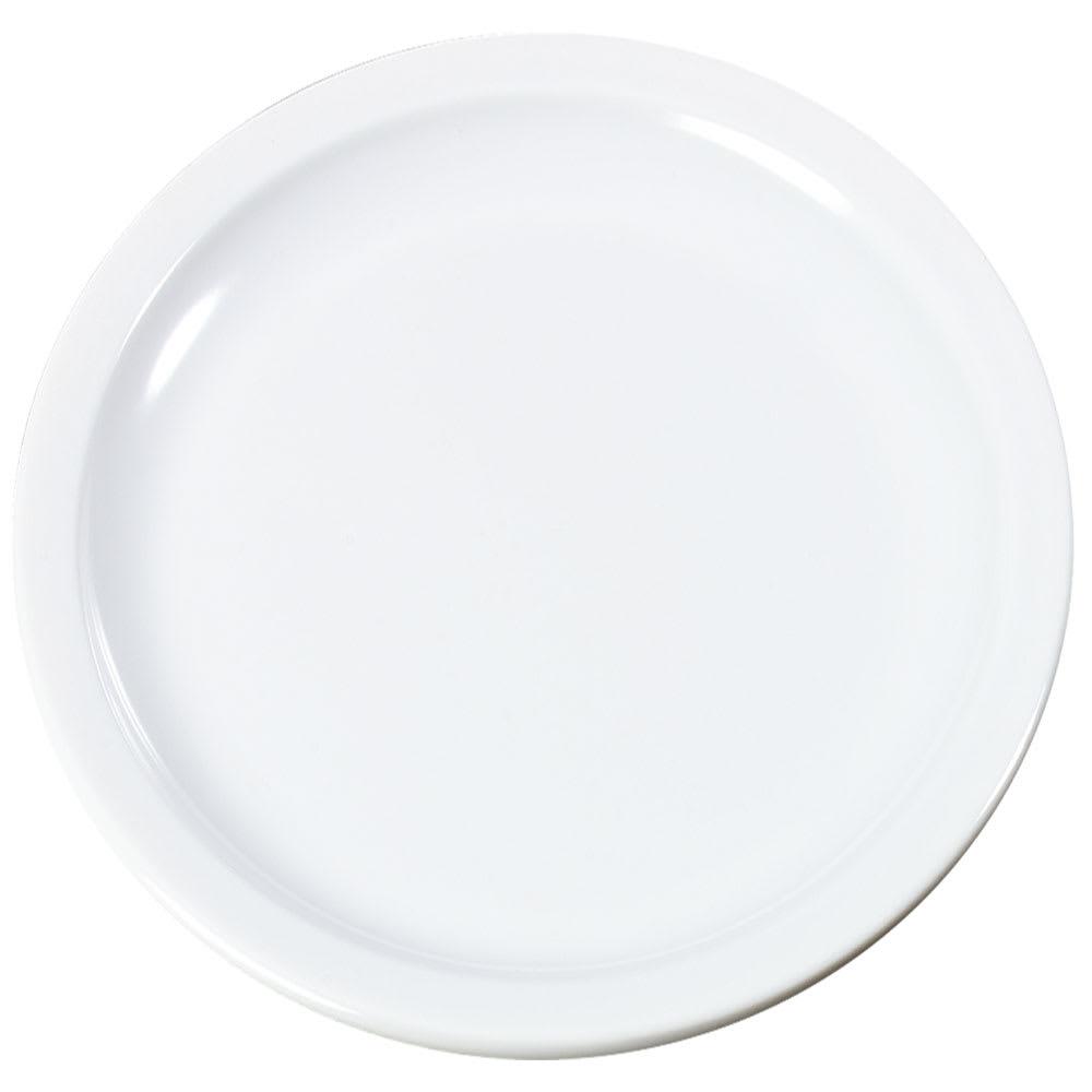"Carlisle KL20102 7.25"" Round Sandwich Plate - Melamine, White"