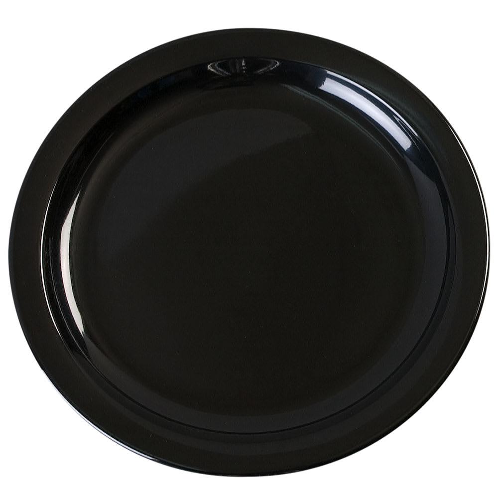 "Carlisle KL20103 7.25"" Round Sandwich Plate - Melamine, Black"
