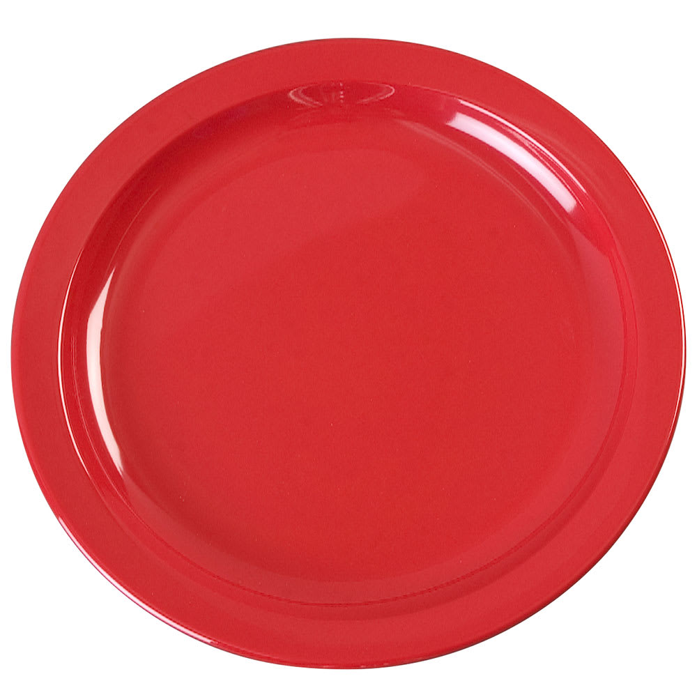 "Carlisle KL20105 7.25"" Round Sandwich Plate - Melamine, Red"