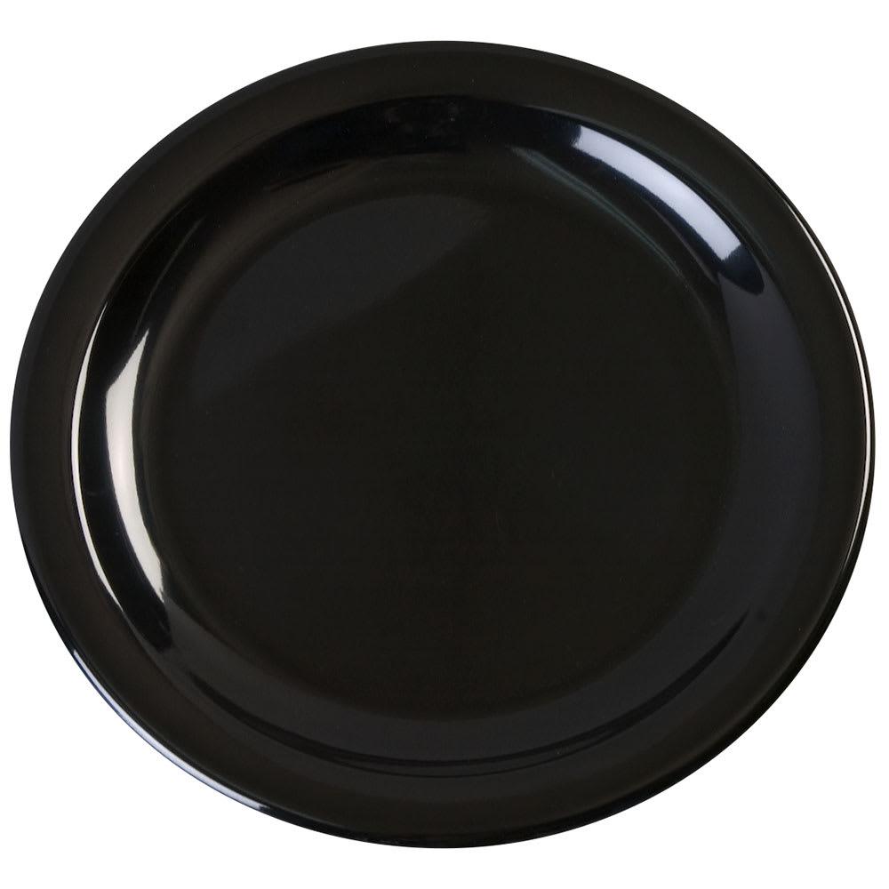 "Carlisle KL20403 6.5"" Round Pie Plate - Melamine, Black"