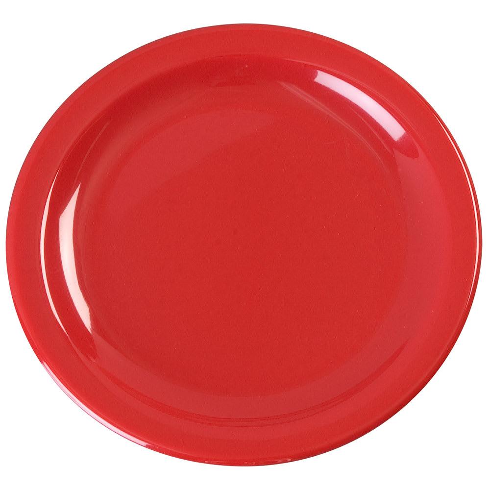 "Carlisle KL20405 6.5"" Round Pie Plate - Melamine, Red"