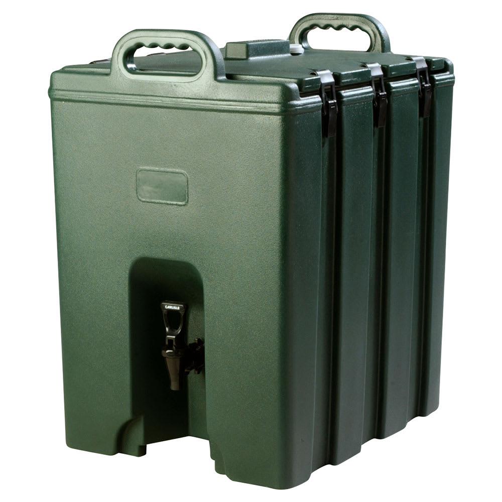 Carlisle LD1000N08 10 gal Beverage Server - Insulated, Forest Green