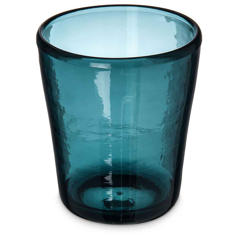 Carlisle MIN544015 14 oz Double Old Fashioned Glass - SAN Plastic, Teal