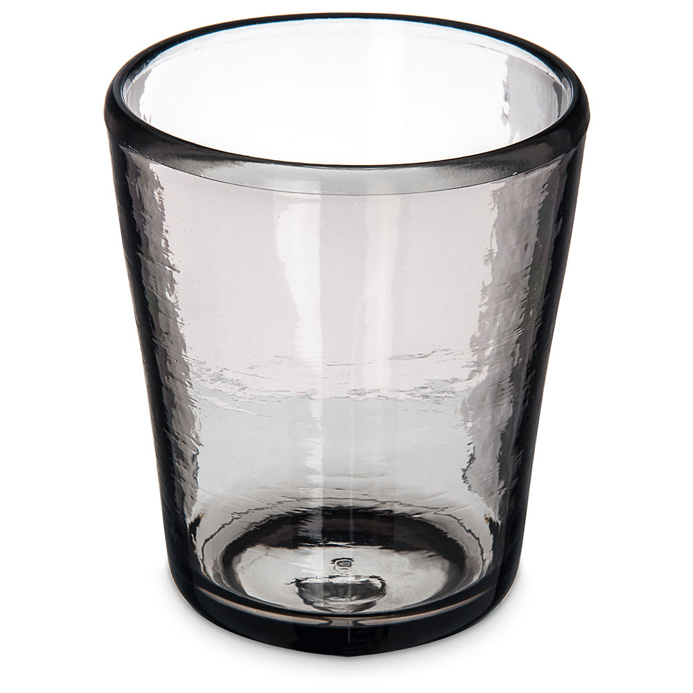 Carlisle MIN544018 14-oz Double Old Fashioned Glass - Tritan Plastic, Smoke Gray