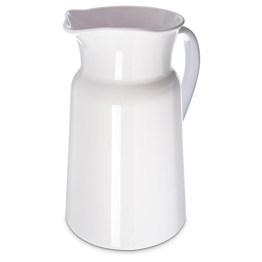 Carlisle MIN544502 3-qt Mingle Farmer's Pitcher - Plastic, White