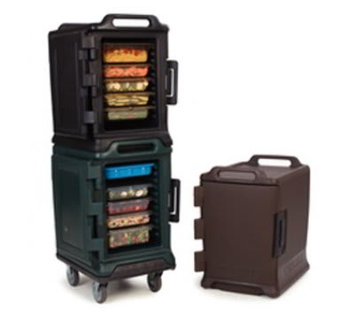 Carlisle MY400-08 Food Carrier - End Loader, Insulated, Polyethylene, Forest Green