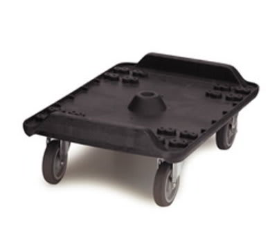 "Carlisle MY410-03 Cateraide Dolly - 5"" Casters, Polyethylene, Black"