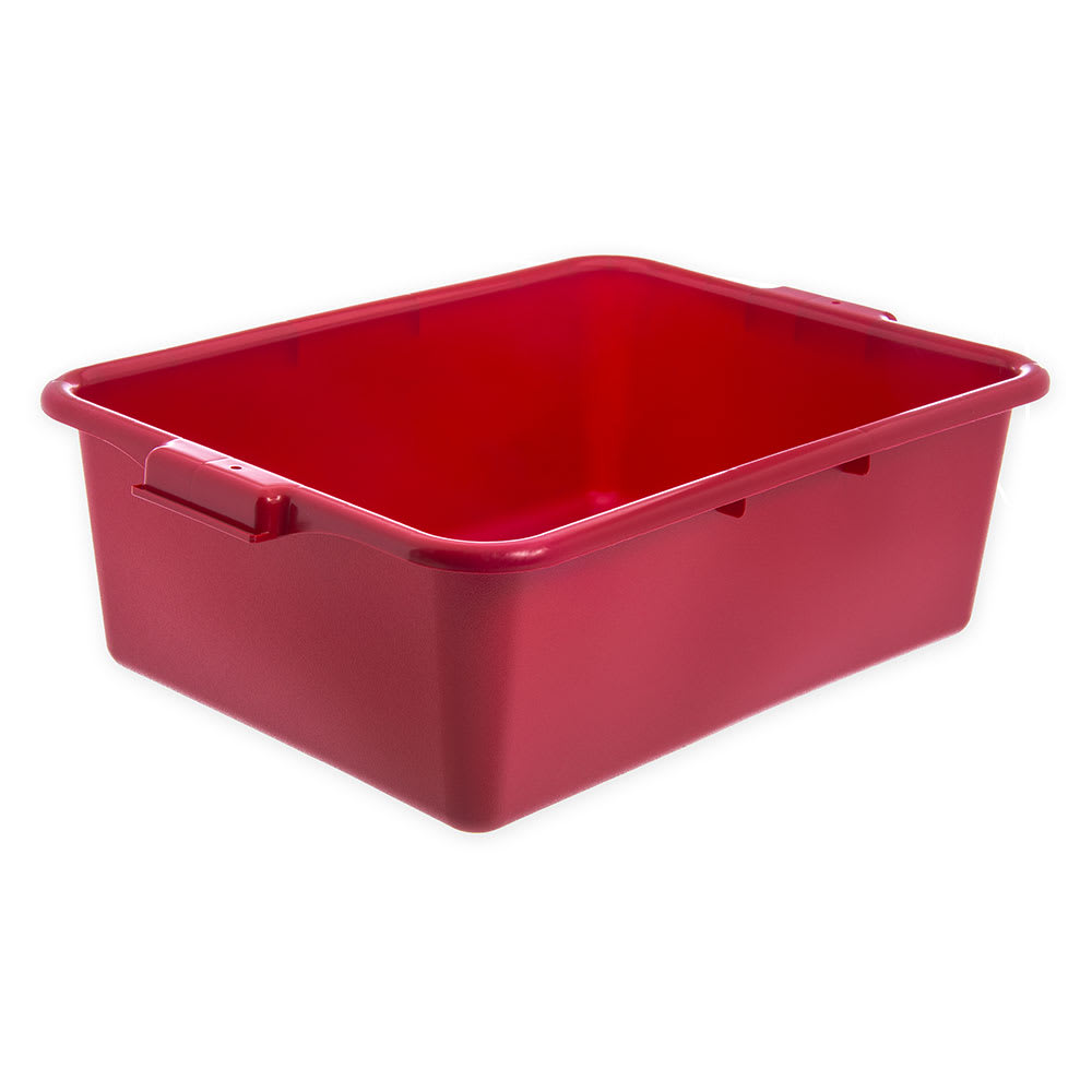Carlisle N4401105 Bus Box w/ (1) Compartment & Handles, Polyethylene, Red