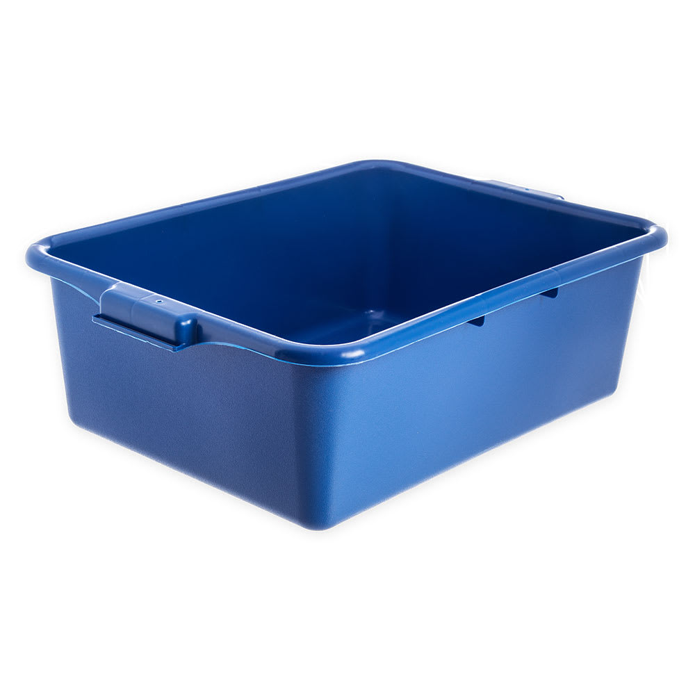 "Carlisle N4401114 Comfort Curve™ Bus Box - 20"" x 15"" x 7"", Blue"