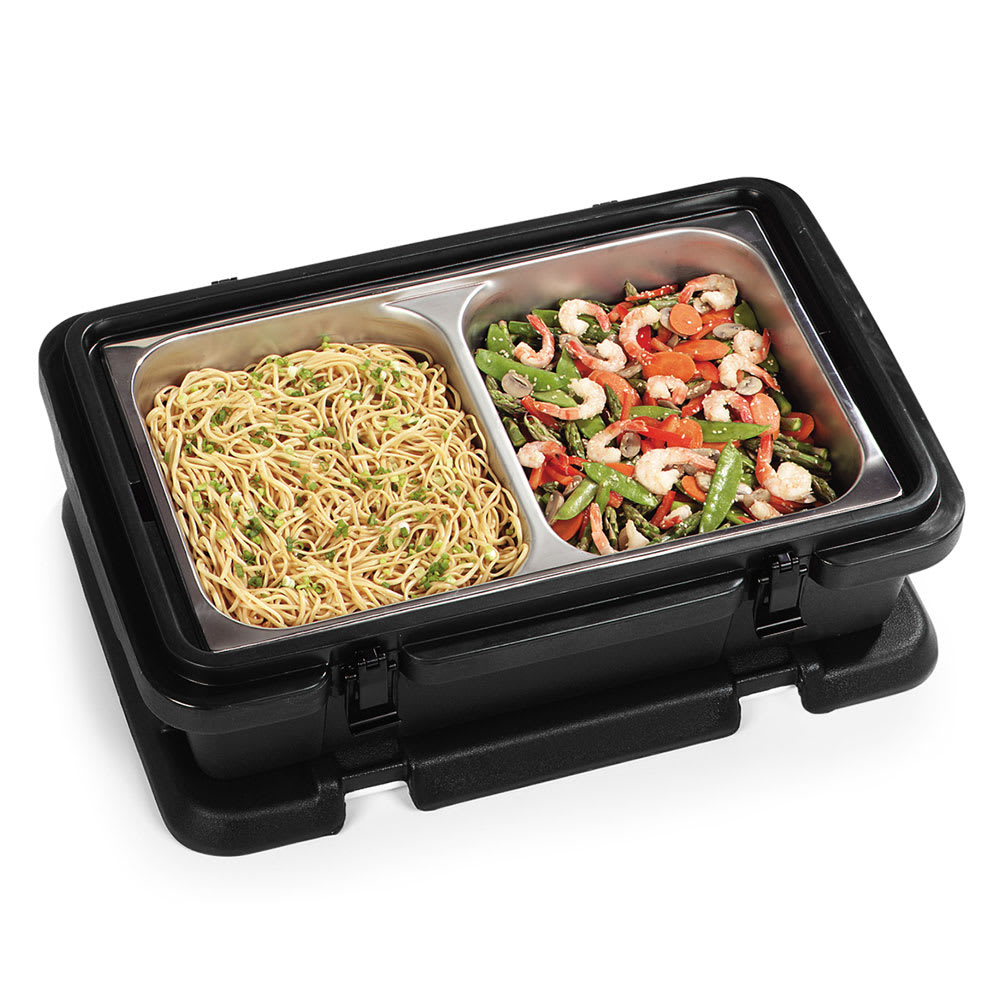 Carlisle PC140N03 Top Load Food Pan Carrier w/ 12 qt Capacity, Polyethylene, Black
