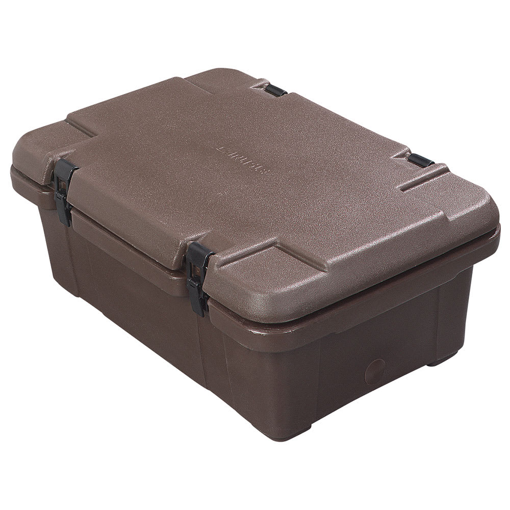 Carlisle PC160N01 Top Load Food Pan Carrier w/ 18-qt Capacity, Polyethylene, Brown