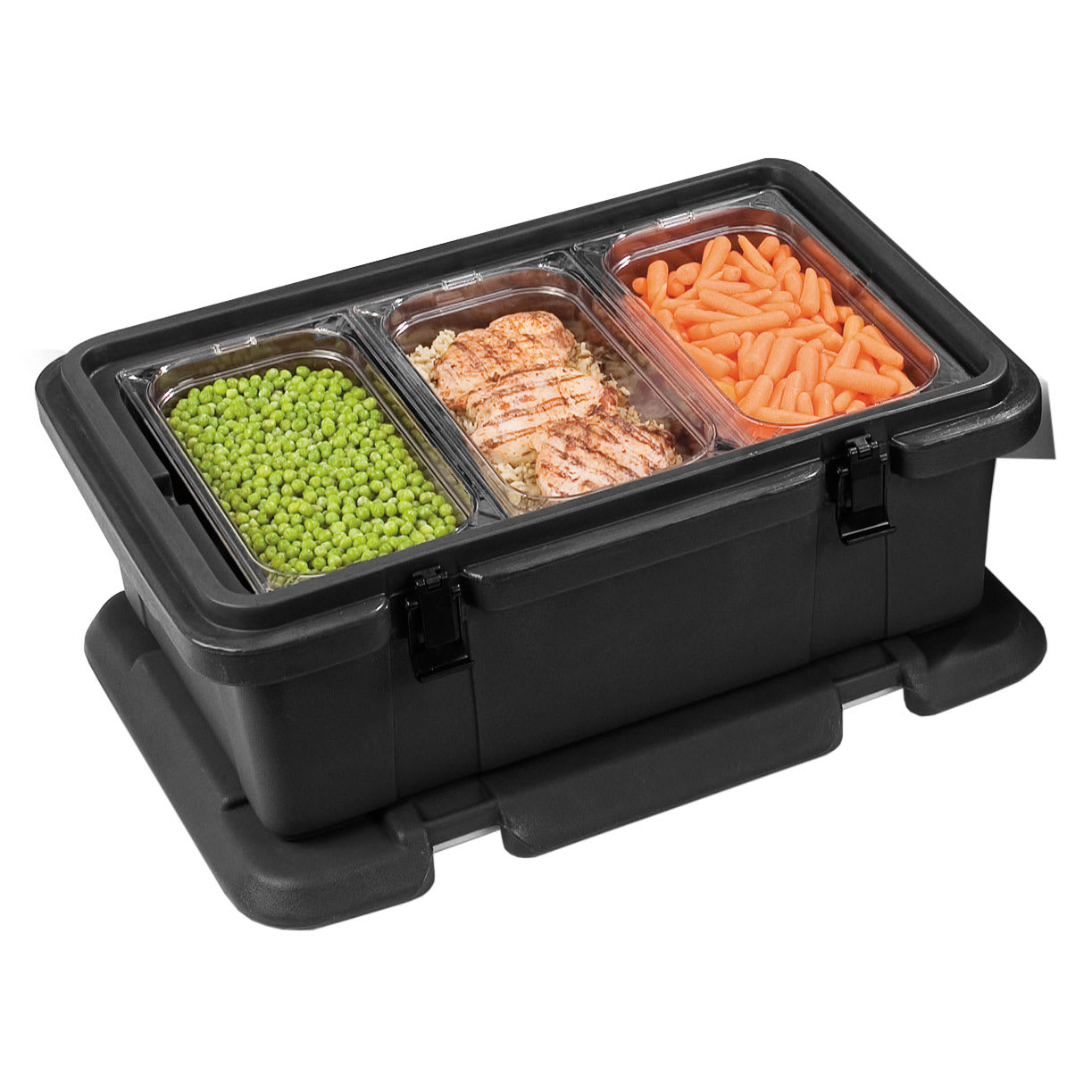 Carlisle PC188N03 Top Load Food Pan Carrier w/ 24-qt Capacity, Polyethylene, Black