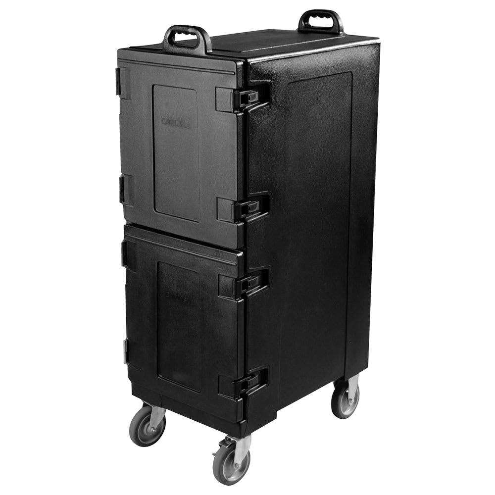 Carlisle PC600N03 Double End Load Food Carrier w/ 10-Pan Capacity, Polyethylene, Black