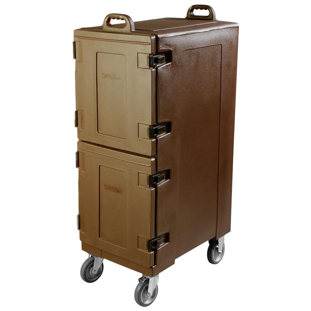 Carlisle PC600N01 Double End Load Food Carrier w/ 10-Pan Capacity, Polyethylene, Brown