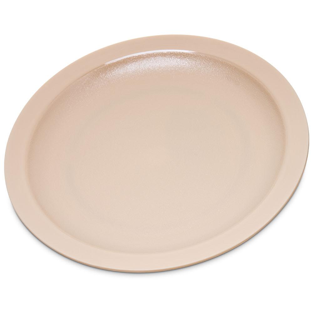 "Carlisle PCD20725 7.25"" Round Plate - Polycarbonate, Tan"
