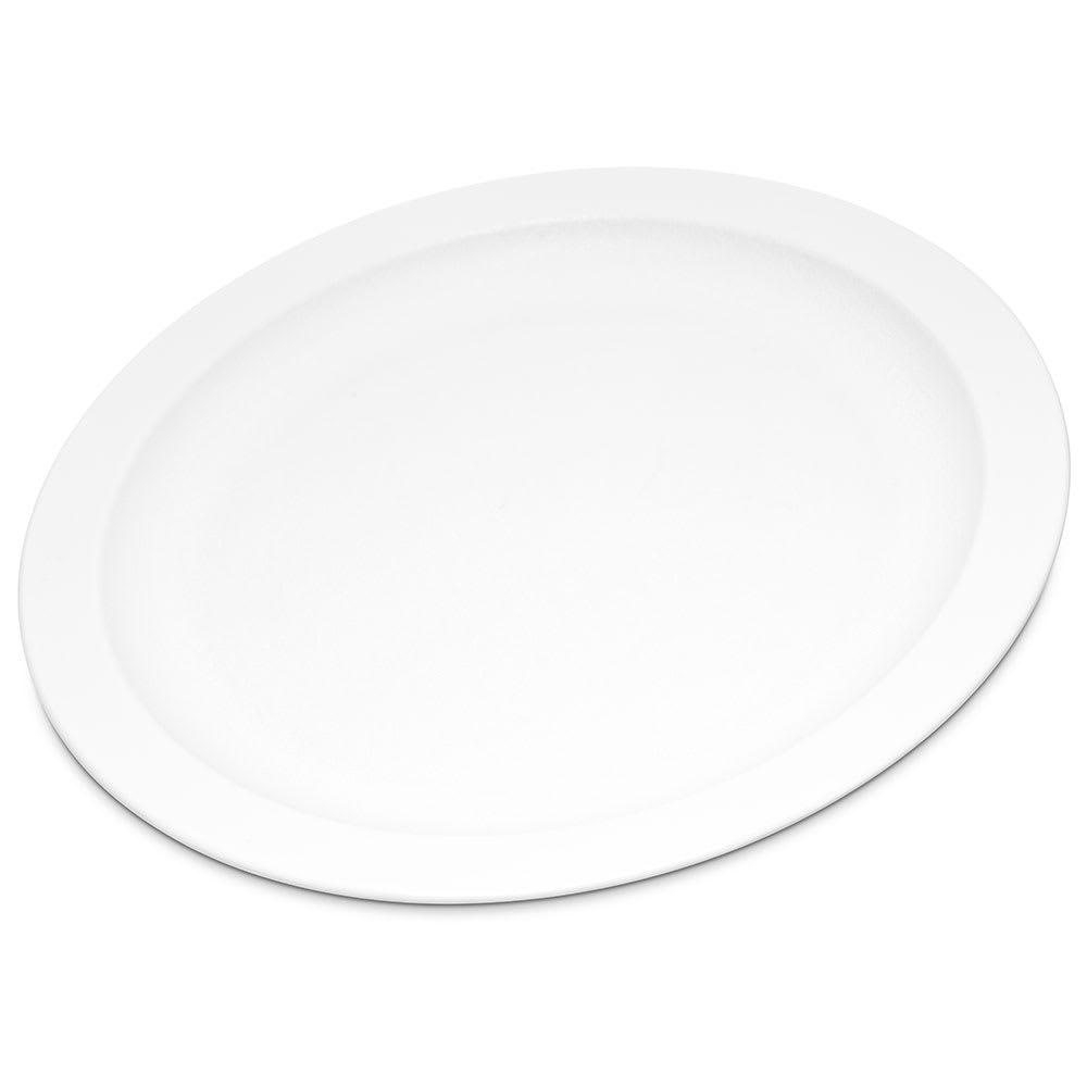 "Carlisle PCD20902 9"" Round Plate - Polycarbonate, White"