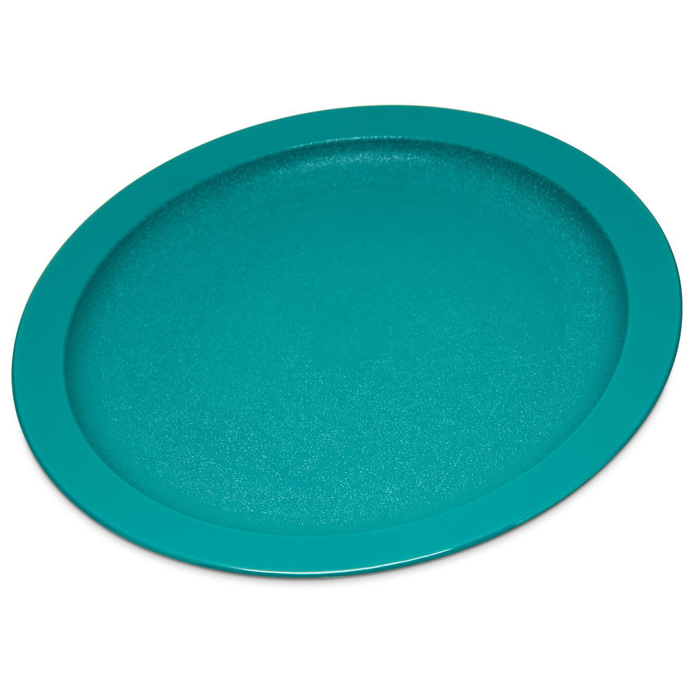 """Carlisle PCD20915 9"""" Round Plate - Polycarbonate, Teal"""