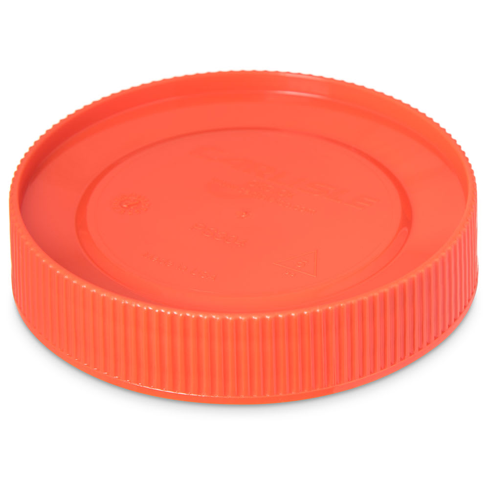 Carlisle PS30424 Store 'N Pour Cap - Polyethylene, Orange