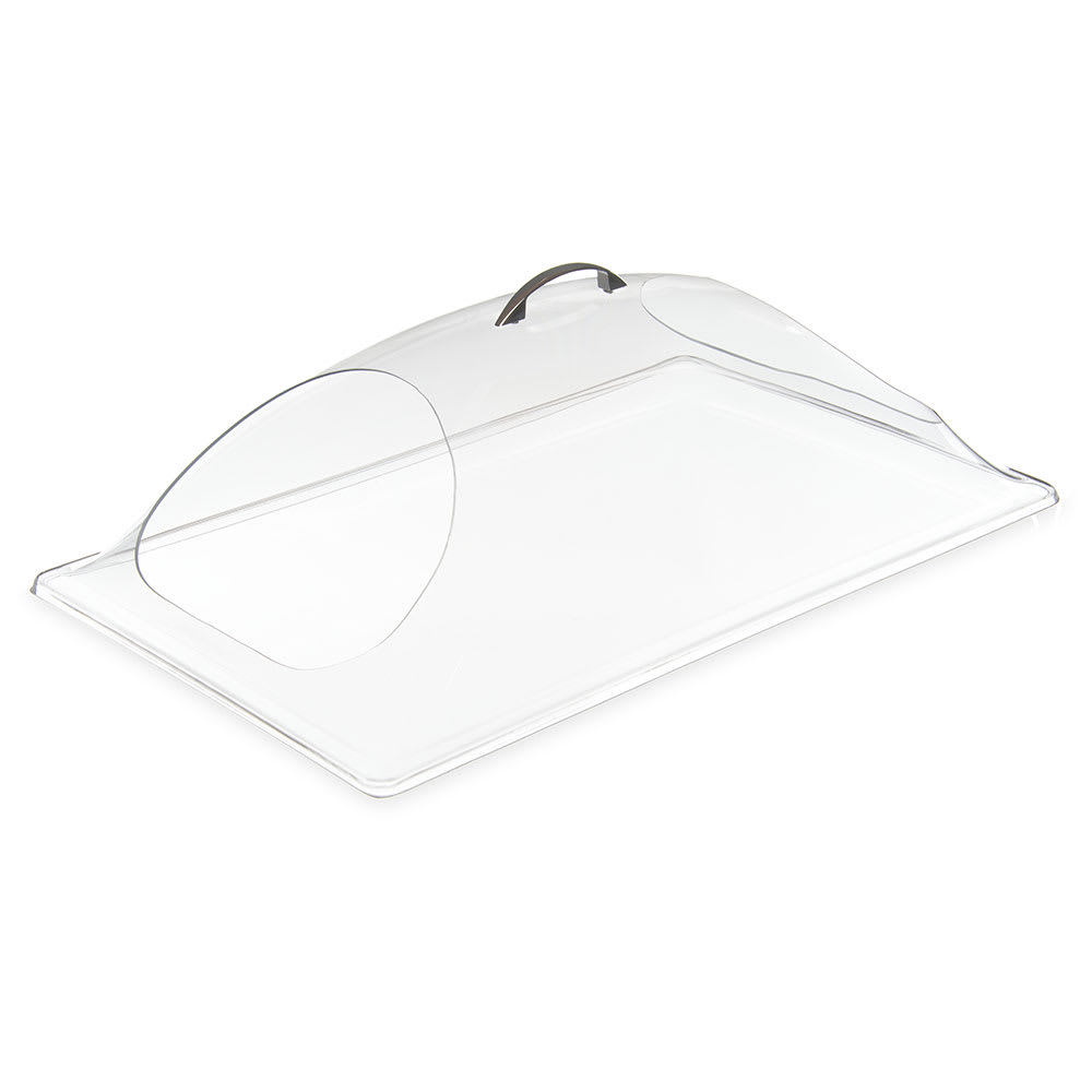 "Carlisle PSD21DEH07 Rectangular Food Pan Display Cover - 21.25"" x 13.375"", Polycarbonate, Clear"
