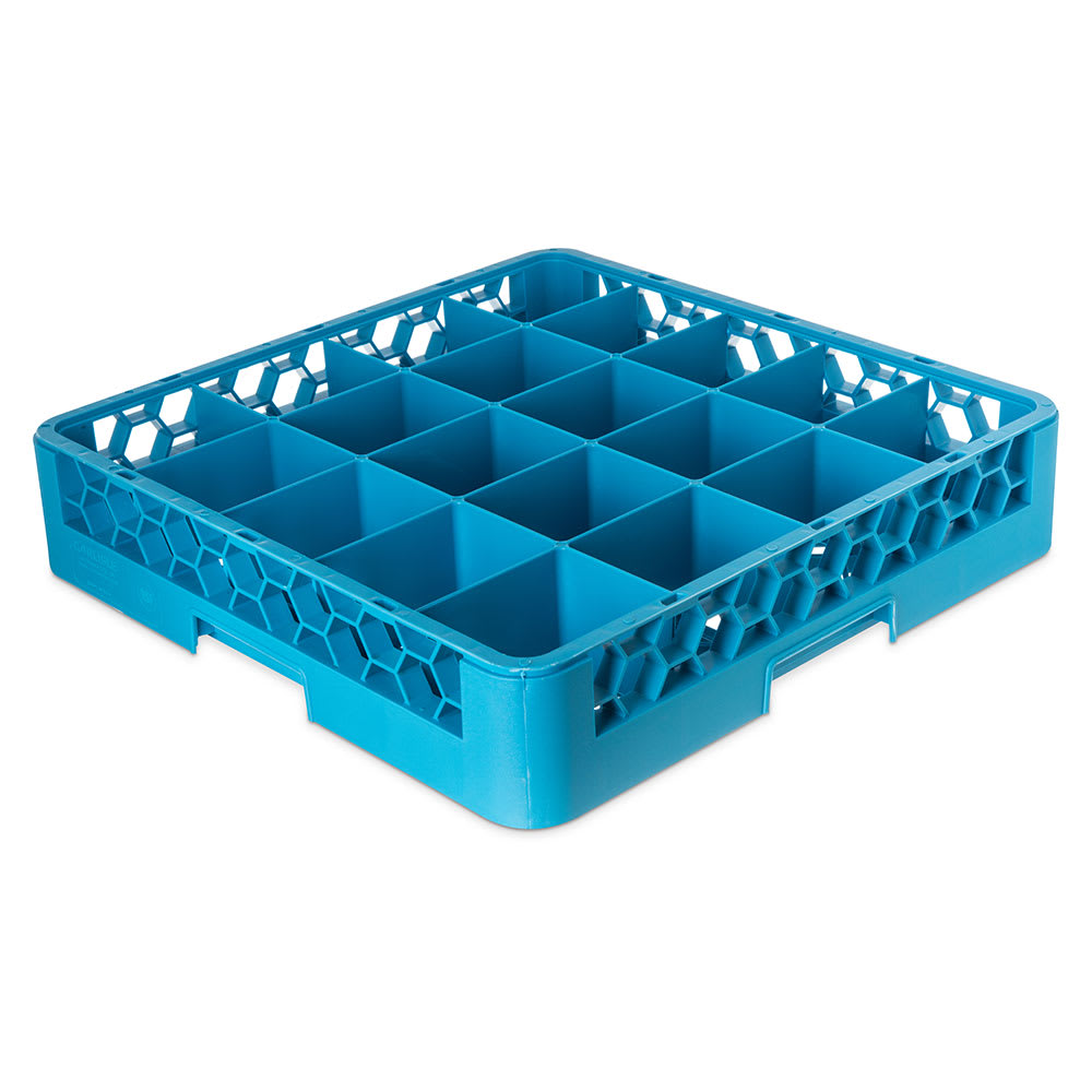 Carlisle RC2014 Full-Size Dishwasher Cup Rack w/ (20) Compartments, Polypropylene, Blue