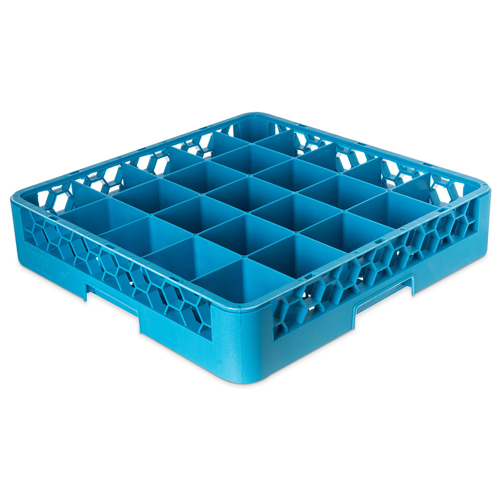 Carlisle RG2514 Full-Size Dishwasher Glass Rack w/ (25) Compartments, Blue