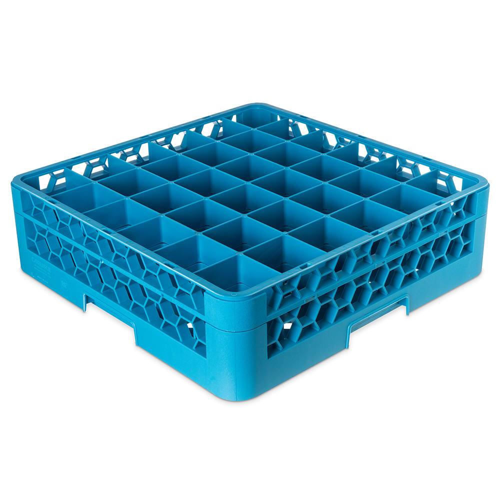 Carlisle RG36-114 Full-Size Dishwasher Glass Rack  w/ (36) Compartments & Extender, Blue
