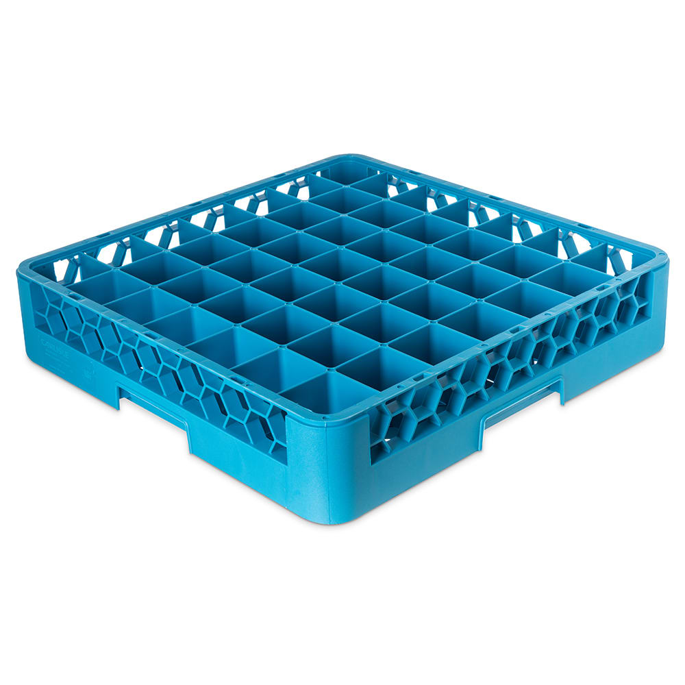 Carlisle RG4914 Full-Size Dishwasher Glass Rack w/ (49) Compartments, Blue