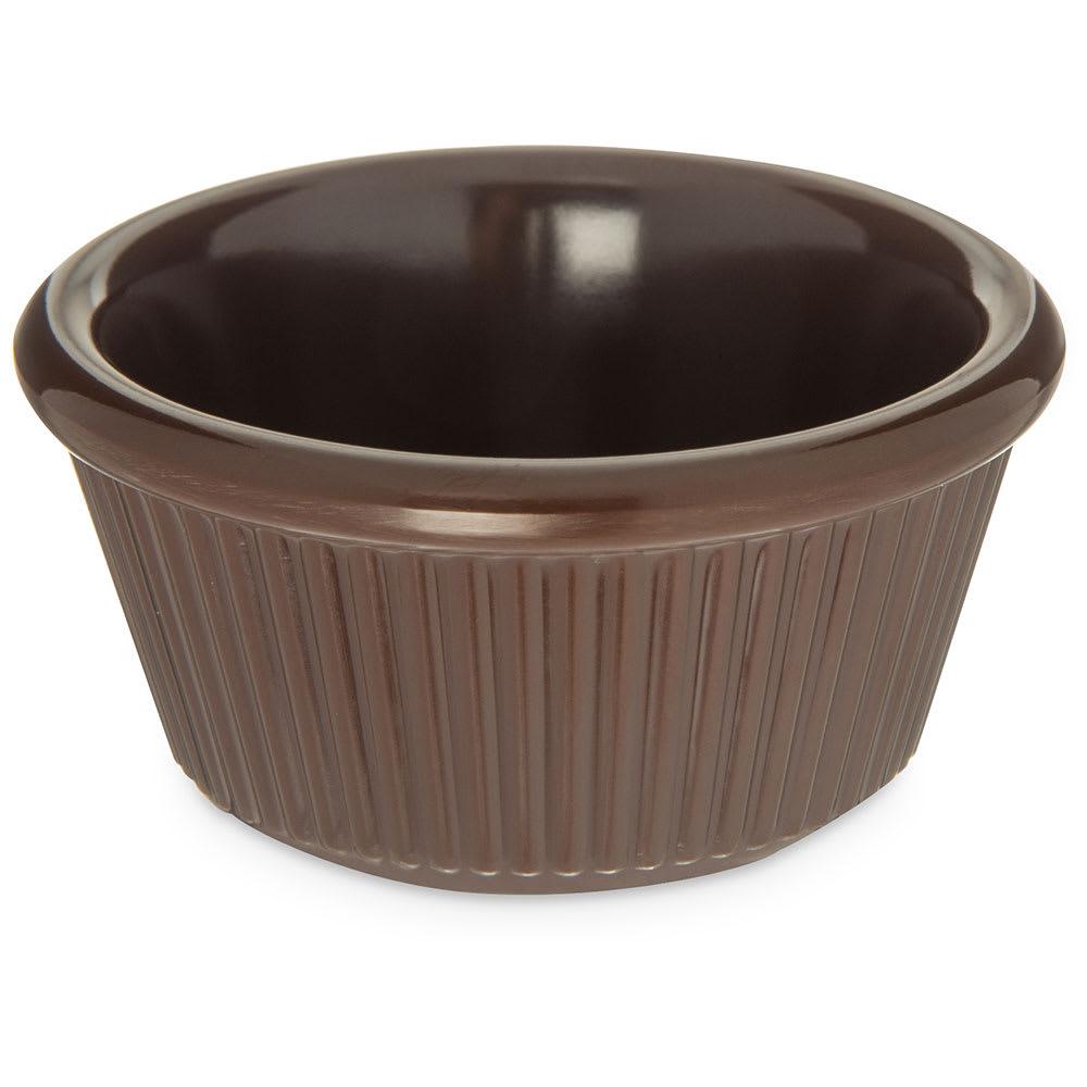 "Carlisle S28269 2.18"" Round Ramekin w/ 3 oz Capacity, Melamine, Chocolate"