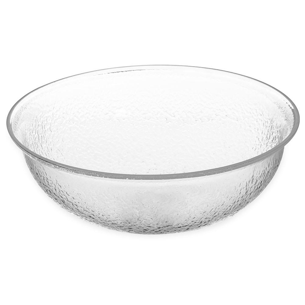 "Carlisle SB7207 12"" Round Salad Bowl w/ 4-qt Capacity, Acrylic, Clear"