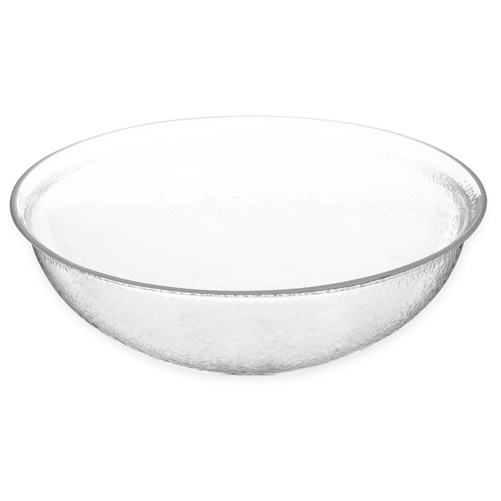 "Carlisle SB7407 14"" Round Salad Bowl w/ 7 qt Capacity, Acrylic, Clear"
