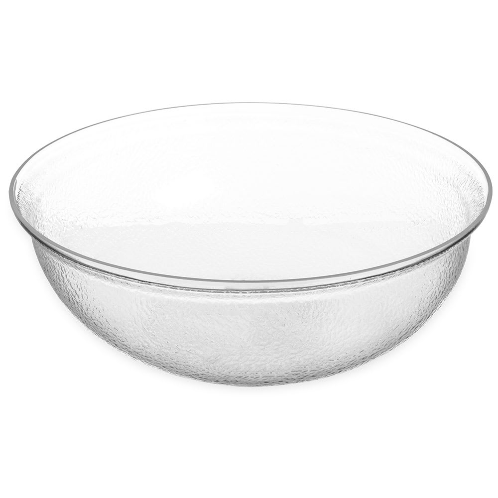 "Carlisle SB7807 18"" Round Salad Bowl w/ 15 qt Capacity, Acrylic, Clear"
